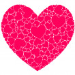 Hearts in heart — Stock Vector