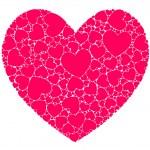 Hearts in heart — Stock Vector