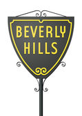 Beverly Hills sign — Stock Vector