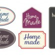 Home made labels — Stock Vector