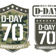Stock Vector: Escutcheon D-DAY Anniversary