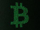 Bitcoin binary numbers — Stock Photo