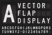 Vector flap display — Stock Vector