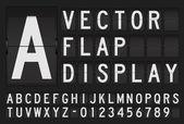Vector flap display — Stock Vector