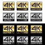 4K UltraHD — Stock Vector