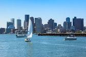 Boston skyline from East Boston, Massachusetts — Stock Photo
