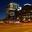 Boston streets by night — Stock Photo