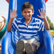 Portrait of a cute little indian boy at playground — Stock Photo #12738682
