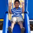 Portrait of a cute little indian boy at playground — Stock Photo #12738736