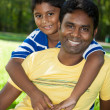 Stock Photo: Portrait of a indian family