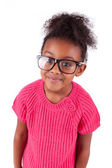 Cute young African American girl — Stock Photo