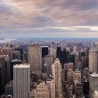 New York City - Manhattan skyline aerial view at sunset — Stock Photo #17439207