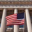 American flag in  the department of commerce building in Washing — Stock Photo
