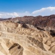 Eroded Ridges At Zabriskie Point, Death Valley National Park, Ca — Stock Photo
