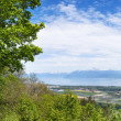 Panoramic view of the Leman Lake from Signal de Bougy park — Stock Photo #25489079
