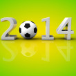 Brazil 2014 world football soccer cup concept — Stock Photo