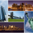New york city famous landmarks picture collage - USA — Stock Photo