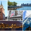 Boston Massachusetts famous landmarks picture collage - USA — Stock Photo