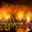 Fireworks over the city of Annecy in France for the Annecy Lake  — Stock Photo