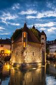 Palais de l'isle by night in Annecy - France — ストック写真