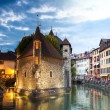 Palais de l'isle by night in Annecy - France — Stock Photo