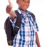 African American school boy making thumbs up - Black people — Stock Photo #31227851