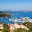 View of Porquerolles island marina in France — Stock Photo