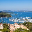Stock Photo: View of Porquerolles island marina in France