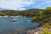 Beautiful bay of Porquerolles island in France — Stock Photo
