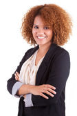 Portrait of a young african american business woman - Black peop — Stock Photo