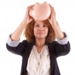 Young african american business woman holding a piggy bank - Afr — Stock Photo #32034943
