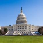 我们建立在华盛顿的国会大厦 — 图库照片