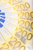 Euro banknotes spread over the floor - European currency — Stock Photo