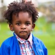 Stock Photo: Outdoor portrait of little africamericboy - Black - chil