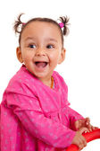 Cute little african american baby girl- Black people — Stock Photo
