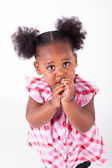 Cute little african american girl  — Stock Photo