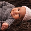 Adorable little african american baby girl - Black people — Stock Photo