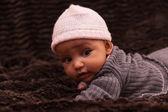 Adorable gente chica - negro bebé afroamericana — Foto de Stock