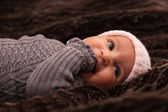 Adorable little african american baby girl - Black people — Foto Stock