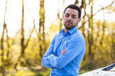Outdoor portrait of a young latin american man — Stock Photo