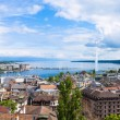 ������, ������: Panoramic view of Geneva water fountain from the Saint Pierre ca