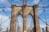 Brooklyn bridge in new york - USA — Stock Photo