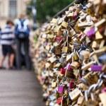 Locks of Pont Des Arts in Paris, France - Love Bridge — Stock Photo #49776219