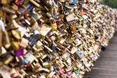 Locks of Pont Des Arts in Paris, France - Love Bridge — Stock Photo