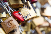 Locks of Pont Des Arts in Paris, France - Love Bridge — Stock Photo