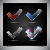玻璃光亮透明图标 — 图库矢量图片