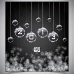 Vector glass Christmas balls — Stock Vector