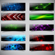 Royalty-Free Stock Vector Image: Horizontal banner set.