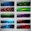 Horizontal banner set. - Stock Vector