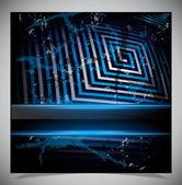голубой нуля гранж-фон — Cтоковый вектор